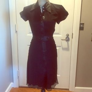 Catherine Malandrino silk shirt dress size 2